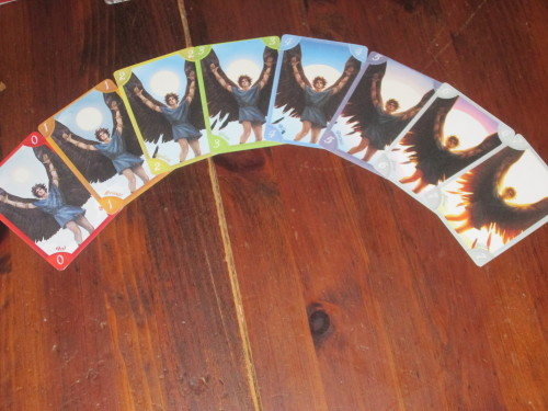 The cards in each deck tell a tragic story. Alas, 7! Why did you have to fly so high?