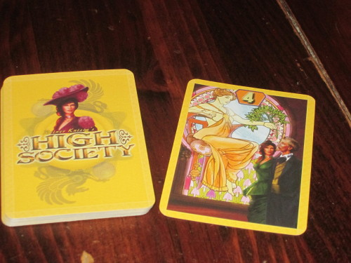 High Society set up. ... Yes, you just shuffle the deck and turn the top card over. BAM!