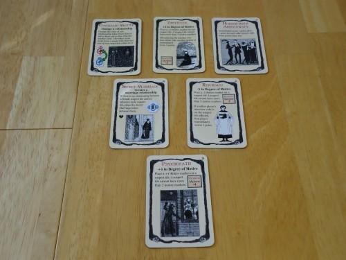Mystery! Motive for Murder: Motive Cards