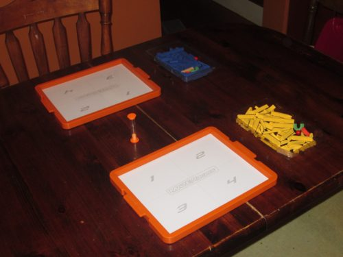 Maze Racers set up for two players.