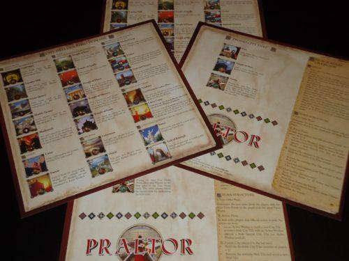 Praetor - Player Aids