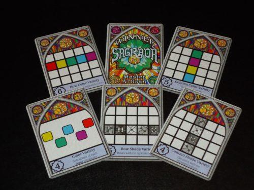 Sagrada - Public Objectives and Winner Card