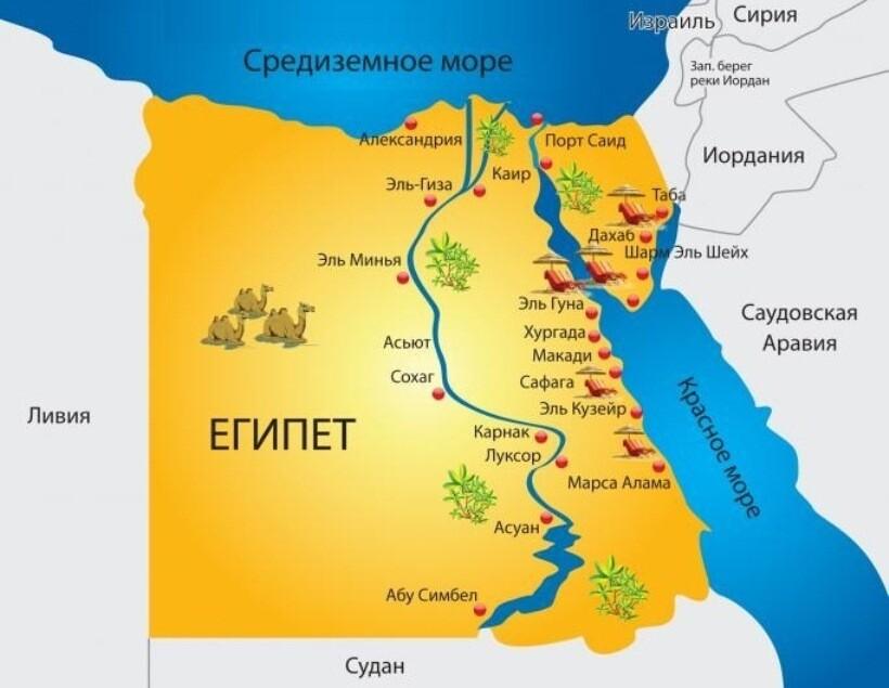 Karta granic Egiptu