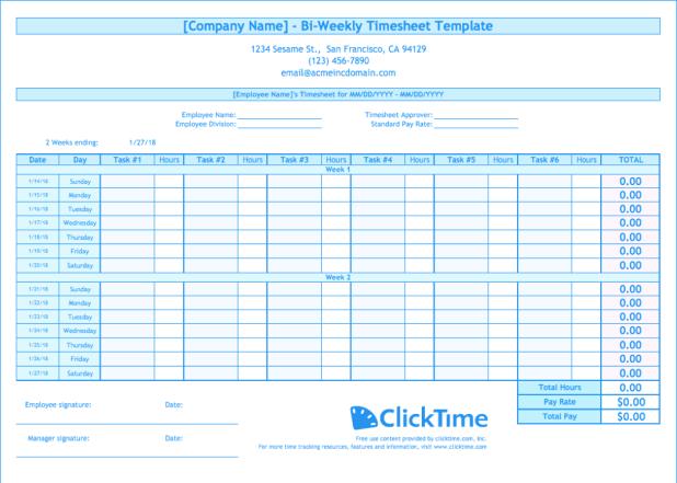 bi weekly time card calculator | Giftsite.co