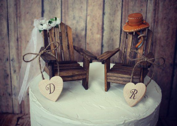 Unique Wedding Cake Toppers   Rustic Wedding Chic Unique Wedding Cake Toppers