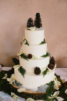 10 Pinecone Wedding Cakes You Will Pine For   Rustic Wedding Chic Pinecone Wedding Cake Ideas