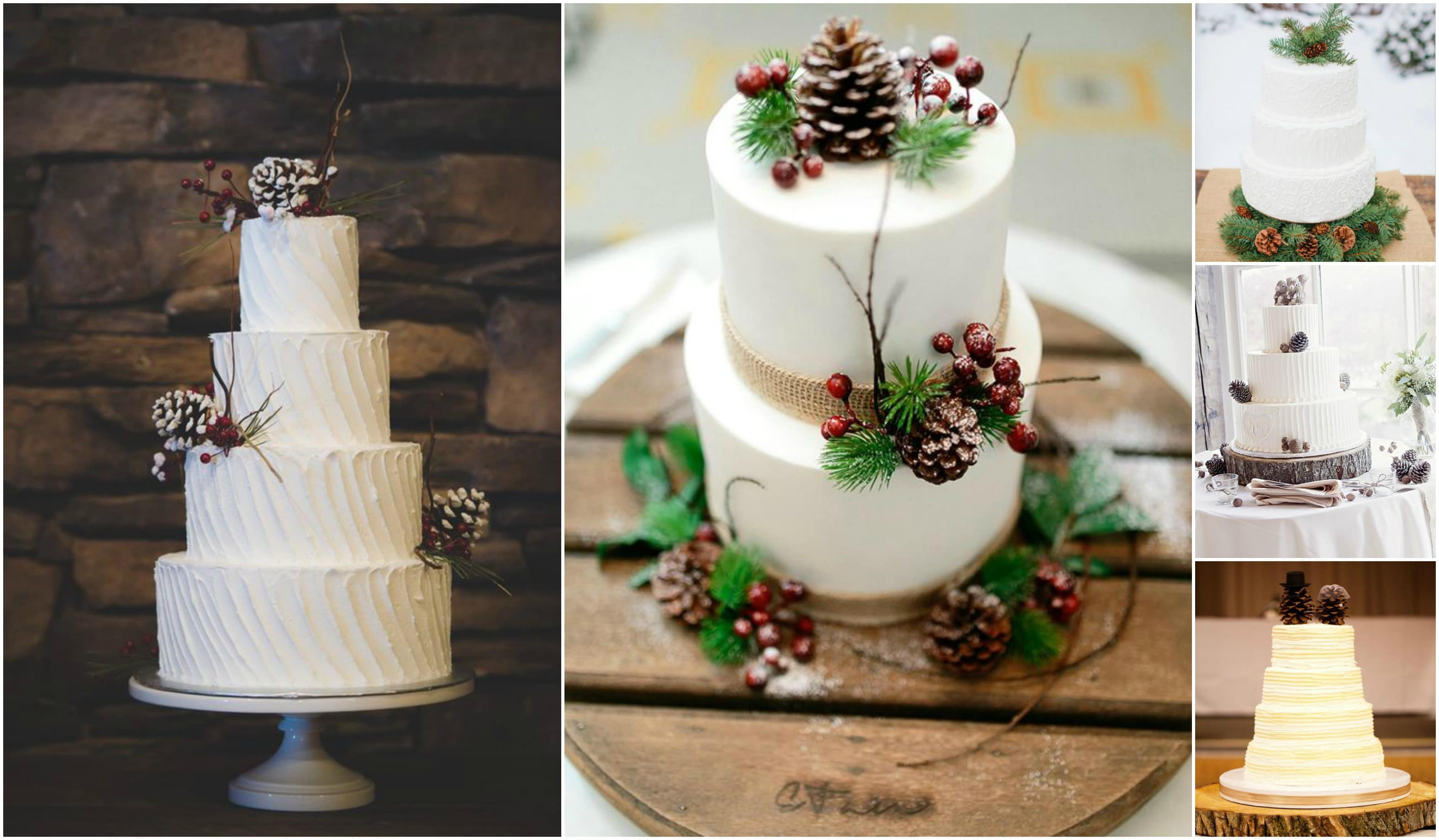 10 Pinecone Wedding Cakes You Will Pine For
