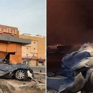 بالصور .. حادث مروع لسيارة في جازان