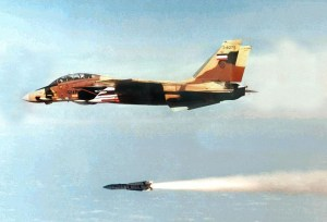 F-14 launching an AIM-54 missile