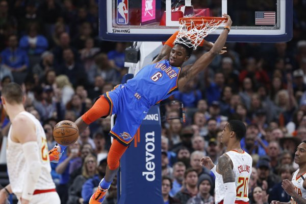 NBA: Thunder pull away to rout Hawks