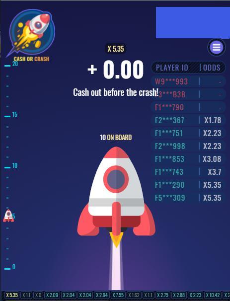 Cash or Crash เกมโดดจรวด