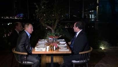 ماذا قال السيسي بعد لقاء بوتين في سوتشي؟