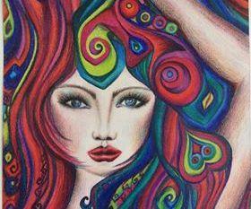 الفنانة مها حسين للـ ( الساعة 25 ) تميل لوحاتى للتعبيريه التجريدية الممزوجة بالفن الشعبي