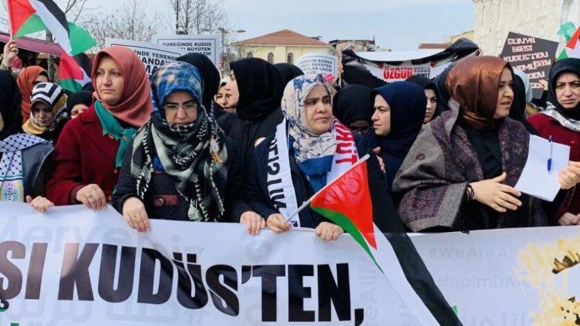 """""""كلنا مريم"""" مسيرة نسائية بإسطنبول تضامنا مع نساء فلسطين 1"""
