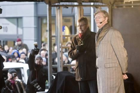 Quase dois anos atrás: Victor Muller e o chefe da Saab, Jonsson, anunciam sua independência