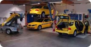 Oficina de teste de fricção Saab 9-5 da Sarsy