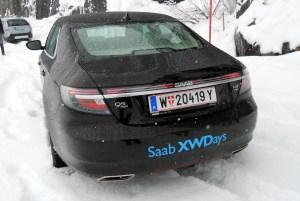 Spaß im Schnee mit Saab 9-5 XWD