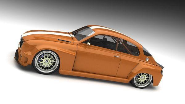 © Entwurf: Vizualtech, Bo Zolland. Saab 96 Retro