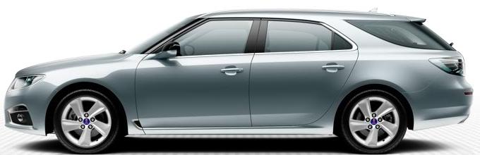 "Saab 9 5 SportCombi, 7,0 x 17 ""rodas de liga leve, design de raio 5"" Blade ""(ALU100)"