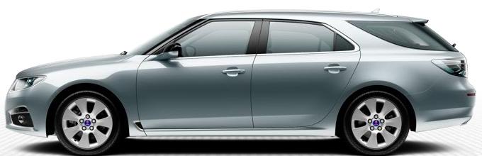 "Saab 9 5 SportSaab 9 5 SportCombi, 7,0 x 17 ""rodas de liga leve, design de raio 7"" Core ""(ALU101)"