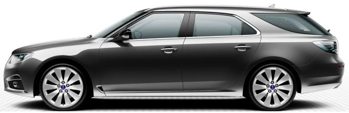 Saab 9-5 SportCombi, Carbon Grey