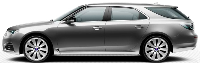 Saab 9-5 SportCombi, Granite Grey