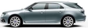 """Saab 9-5 SportCombi, 8,5 x 19""""-Leichtmetallräder, 10-Speichen-Design """"Turbine"""" (ALU105)"""