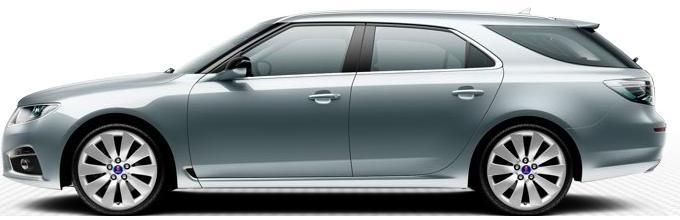 "Saab 9 5 SportCombi, 8,5 x 19 ""-metallfälgar, 10 talade design"" Turbin ""(ALU105)"