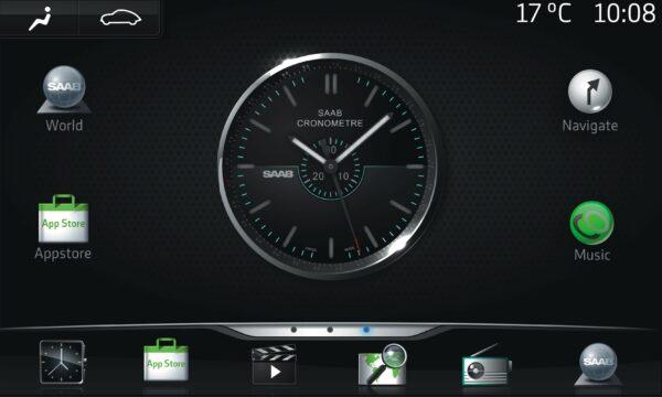 Saab Multimedia Future, основанная на Google Android OS
