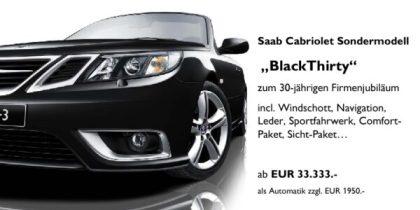 "Saab 9-3 Cabriolet ""Black Thirty"" Saab Zentrum Frankfurt"