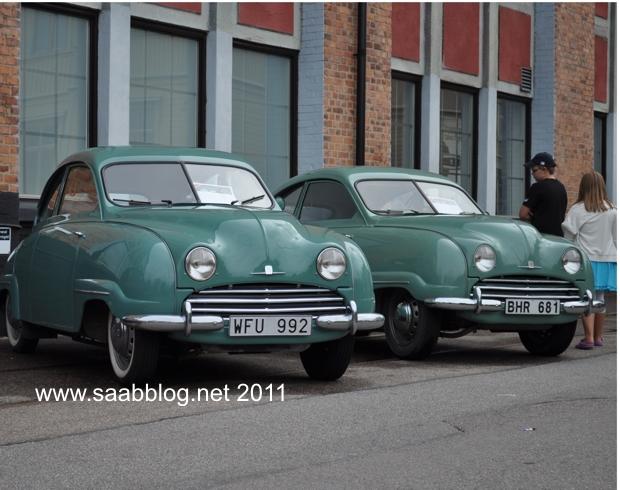 Restaurato: Saab 92 su Saab che incontra 2010 a Trollhättan