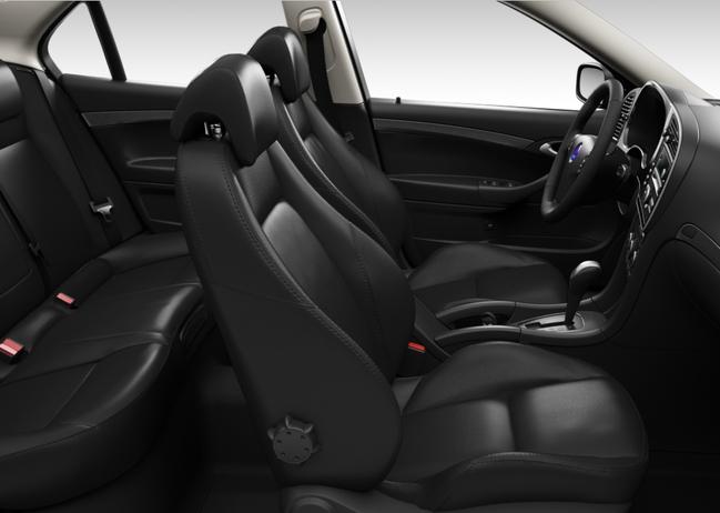 Saab 9-3 Griffin, Premium Sportsitze Semi-Anilinleder, schwarz