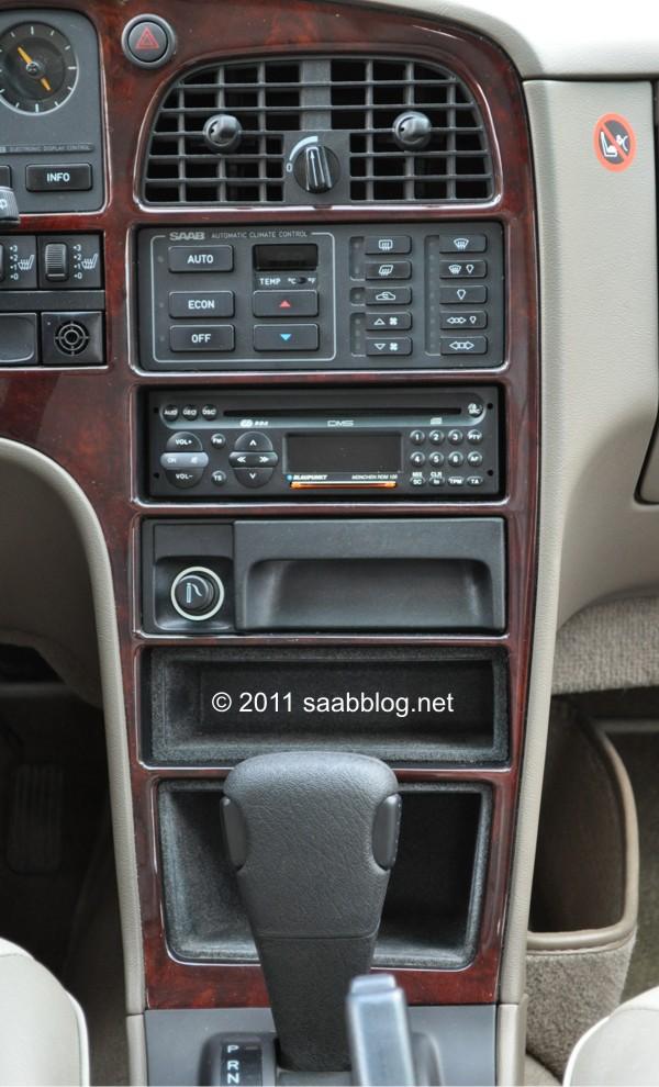 Saab 9000 CSE middenconsole, automatische klimaatregeling, ZF-4 versnelling automatisch