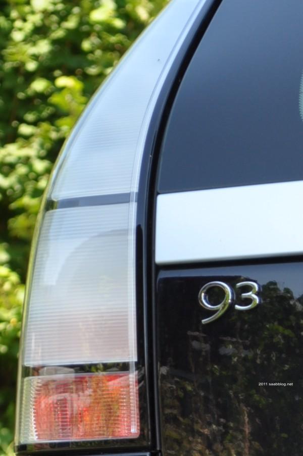 """Saab 9-3 Sportkombi, """"geeiste"""" Rückleuchten"""