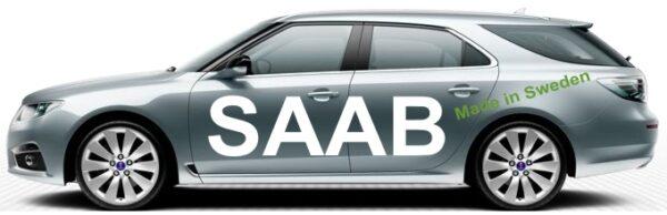 """Saab utställningsfordon, """"Made in Sweden"""""""