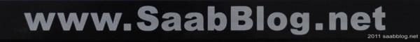 """""""Saabblog.net"""" Siebdruck, silberne Schrift"""