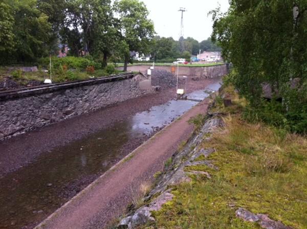 Frente al Museo Saab, el canal.