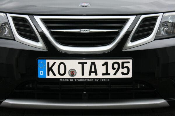 Охлаждающий олень Saab 9-3 от Peter с правильным держателем номерного знака