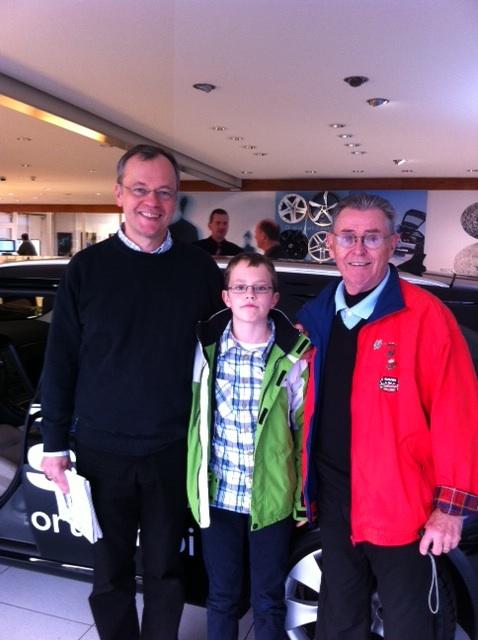 Saab Fans: Holger, Markus und Saab Rallye Legende Simo Lampinen