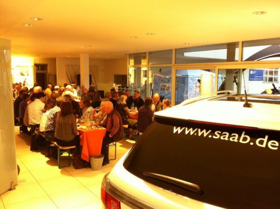 Visite du concessionnaire Saab 2011: Saab center Frankfurt
