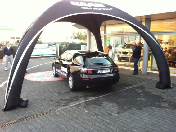 Saab återförsäljare turné 2011: Saab centrum Frankfurt