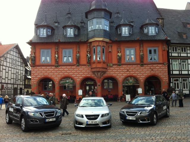 Saab 9-4x, carro esporte Saab 9-5 e sedan Saab 9-5 em Goslar
