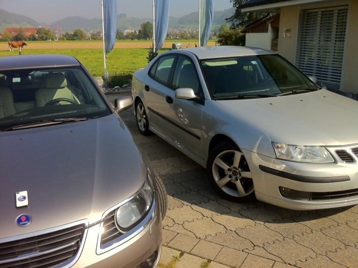 Saab 9-5, Saab 9-3 e Saab iPhone4 de Rafael