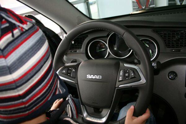 ¿Es correcta la ergonomía? Asientos de prueba en el Saab.