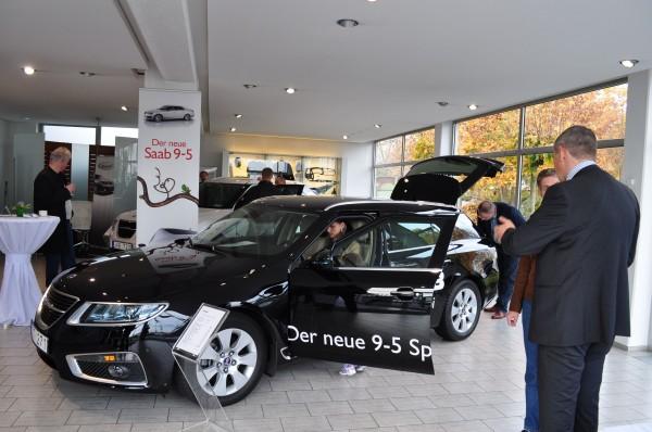 Der neue Saab 9-5 Sportkombi im Saab Zentrum Mainz