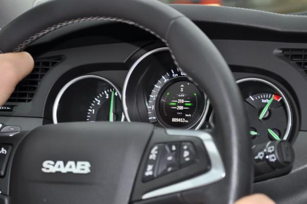 Saab 9-4x, US Version,  auf deutscher Autobahn...