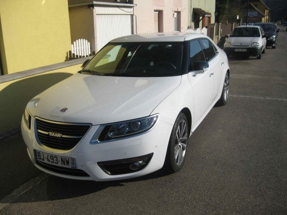 Saab 9-5 in the Vosges
