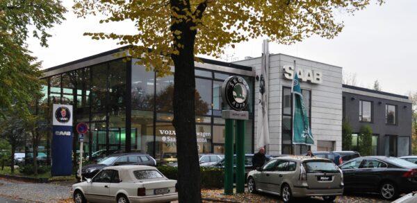 Saab Weber Berlin, eines der schönsten Gebäude der Tour