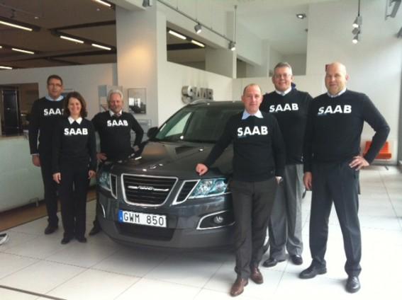 Saab Händlertour 2011: Saab Autohaus Team und Team von Saab Deutschland