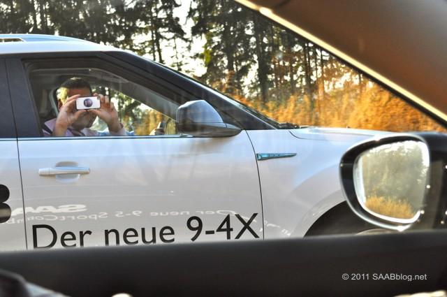 O gerente de vendas Saab 9-4x e Saab Thomas Schweizer